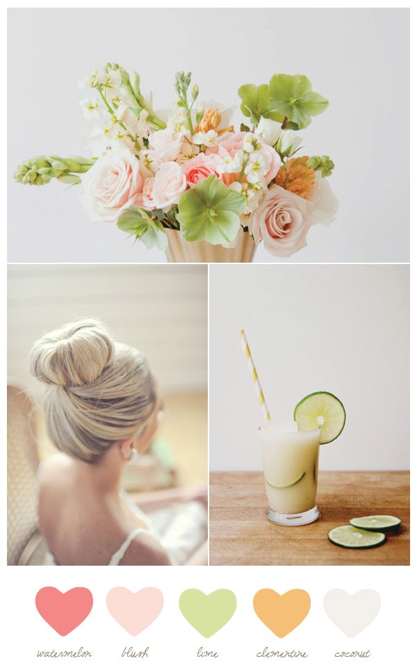 Pink and Green Wedding Colors � The Sweetest Occasion