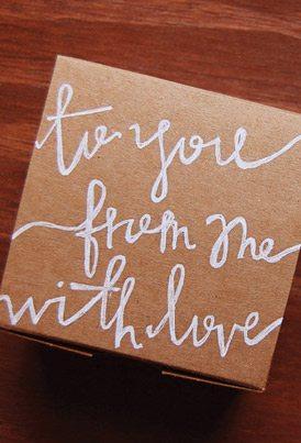 DIY Hand Lettered Gift Wrap thumbnail