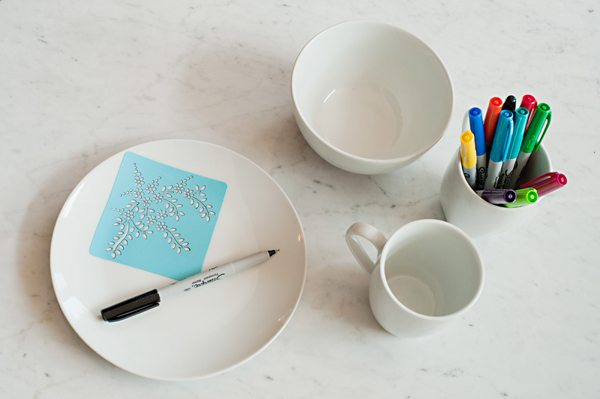 DIY Sharpie dinnerware from The Sweetest Occasion