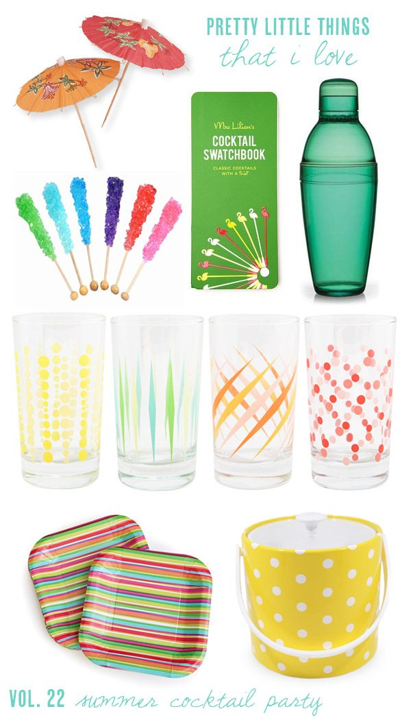 Summer cocktail party essentials from The Sweetest Occasion