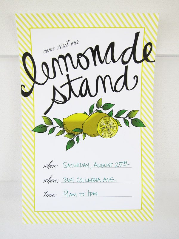 Lemonade Stand Poster Designs : Lemonade stand printables the sweetest occasion