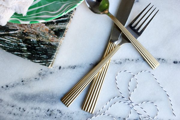 DIY gilded flatware by Hank + Hunt for The Sweetest Occasion