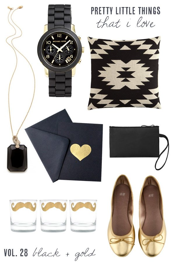 Pretty black and gold accessories from The Sweetest Occasion