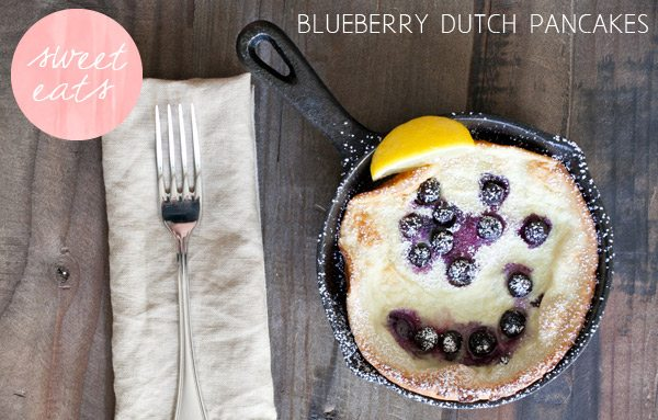 Blueberry Dutch pancakes by Sugar & Charm via The Sweetest Occasion