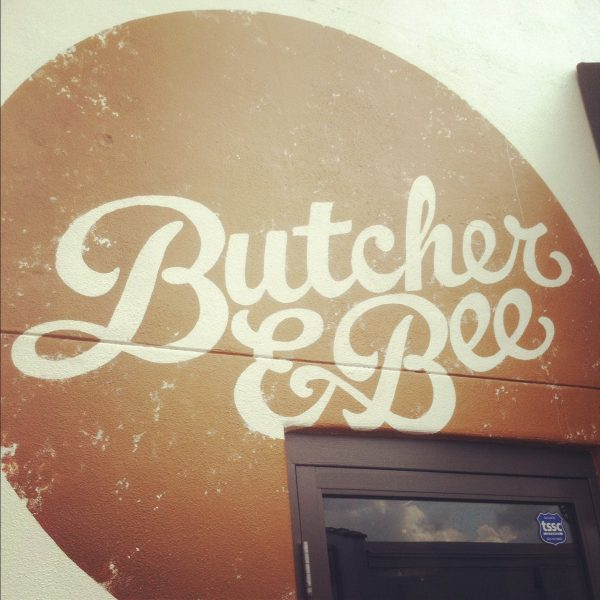 Butcher & Bee logo, Charleston | Photo by Cyd Converse, The Sweetest Occasion
