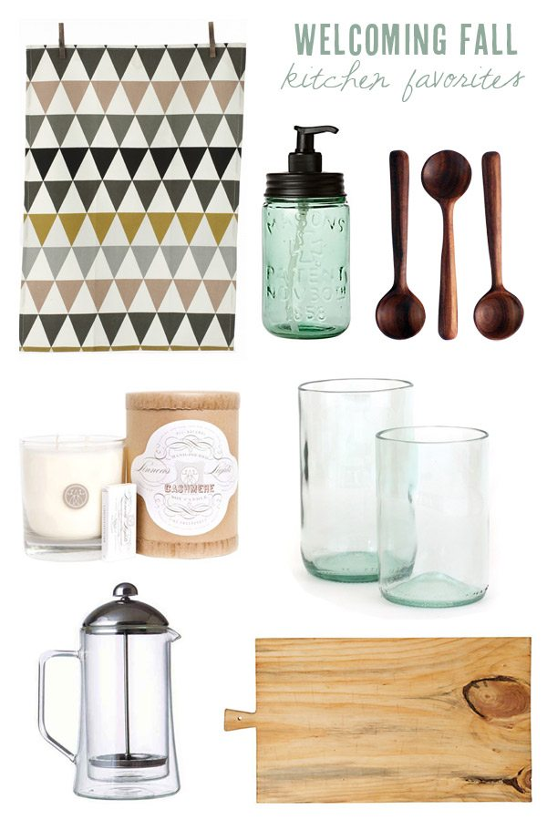 Pretty fall kitchen accessories from The Sweetest Occasion
