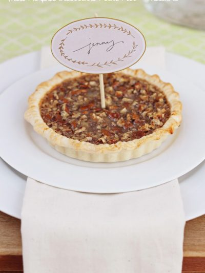 Mini Pumpkin Cheesecake Pecan Pies + Printable thumbnail