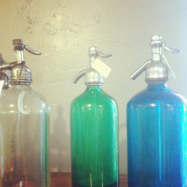 Vintage seltzer bottles | Photo by Cyd Converse, The Sweetest Occasion