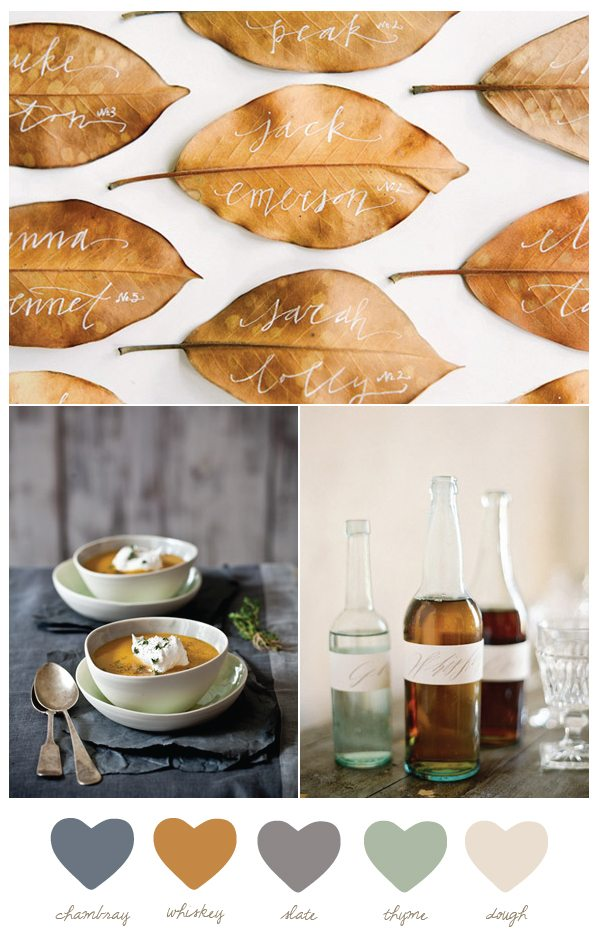 Whisky + chambray | Fall color palette from The Sweetest Occasion