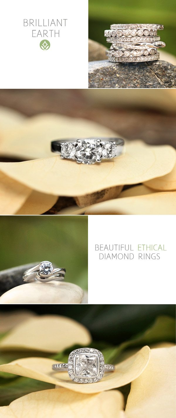 Ethical diamonds from Brilliant Earth via The Sweetest Occasion