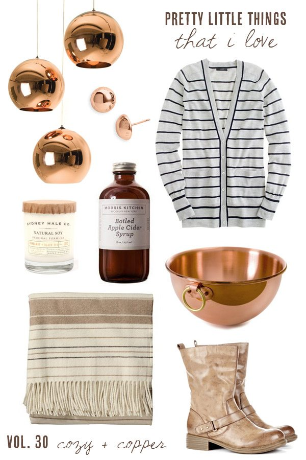 Cozy + copper fall accessories | The Sweetest Occasion