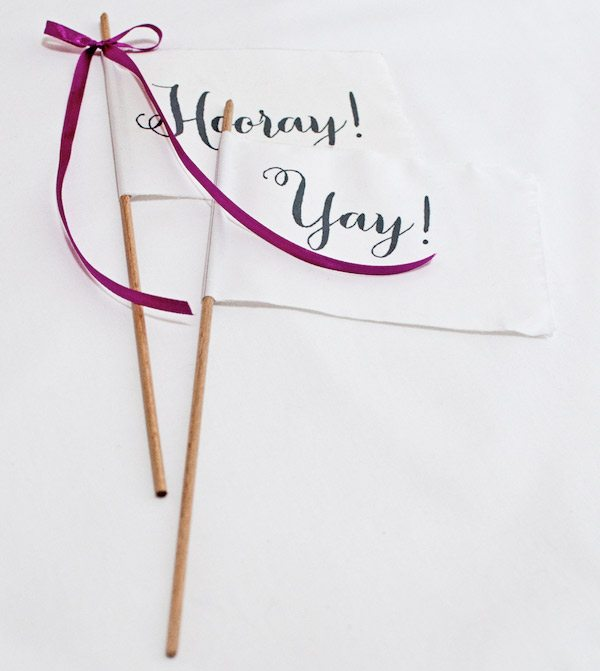 DIY celebration pennants by Oh The Lovely Things for The Sweetest Occasion