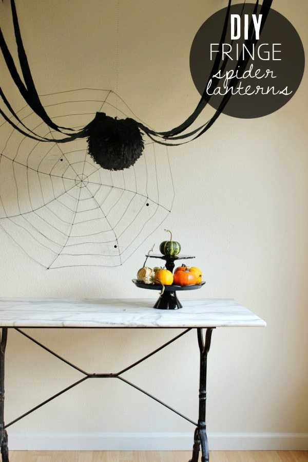 DIY fringe spider lanterns | by Hank + Hunt from The Sweetest Occasion