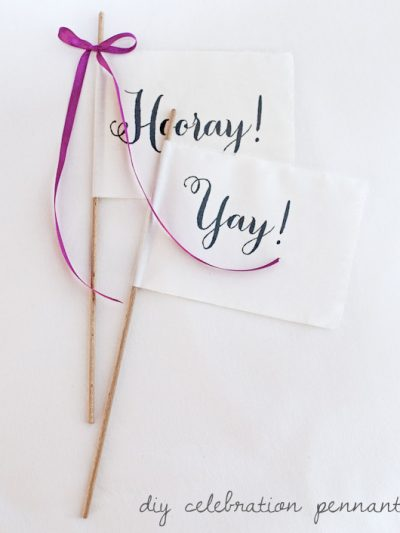 DIY Celebration Pennants thumbnail