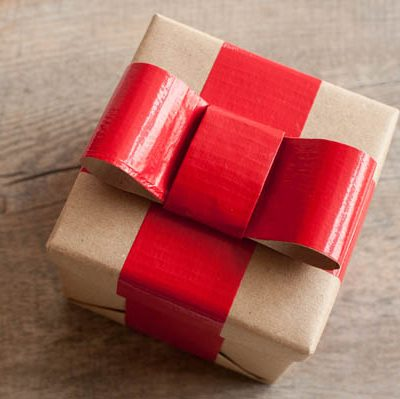 DIY Duct Tape Gift Wrap thumbnail