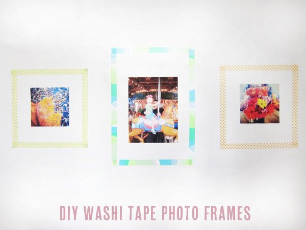 DIY washi tape photo frames | The Sweetest Occasion