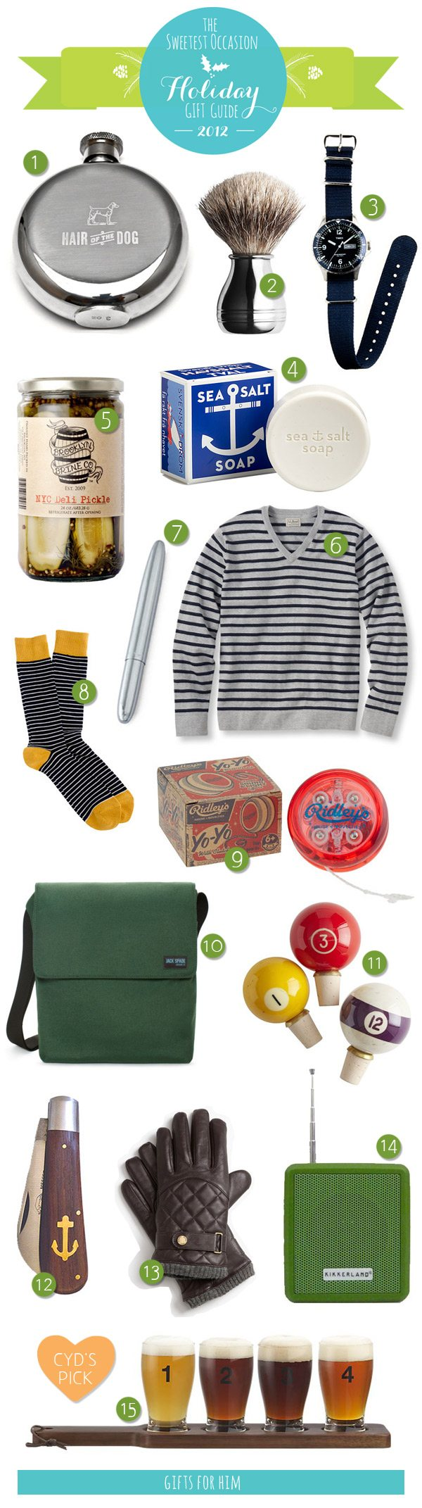 The Gift Guide: Gifts for Him | The Sweetest Occasion