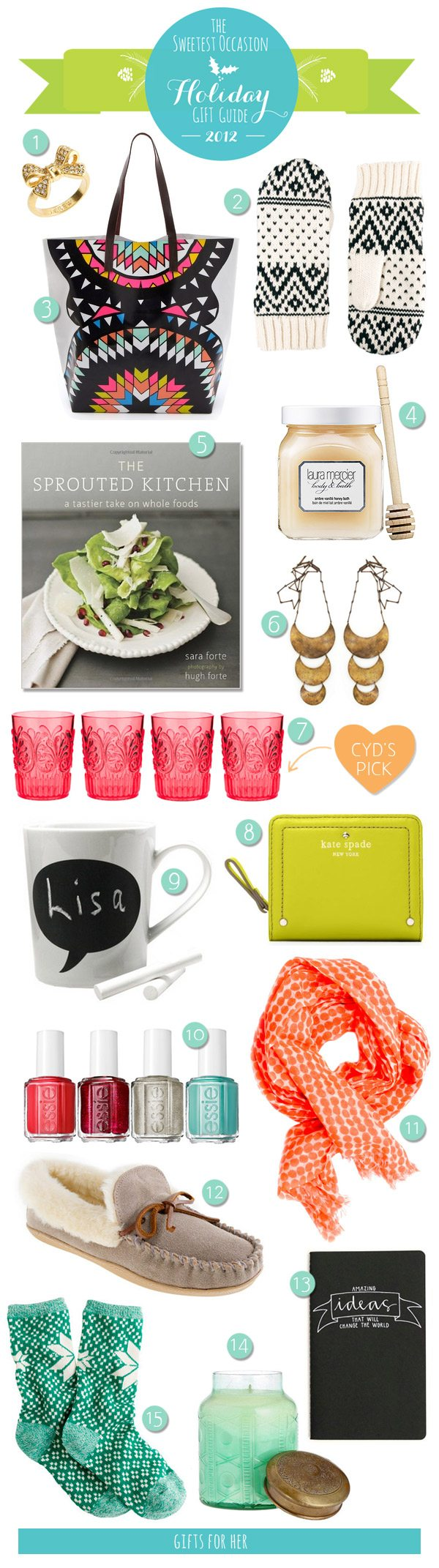 The Gift Guide: Gifts for Her | The Sweetest Occasion