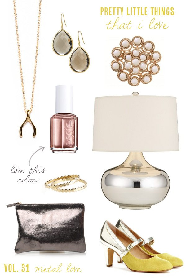 Pretty metallic accessories for the holidays | The Sweetest Occasion