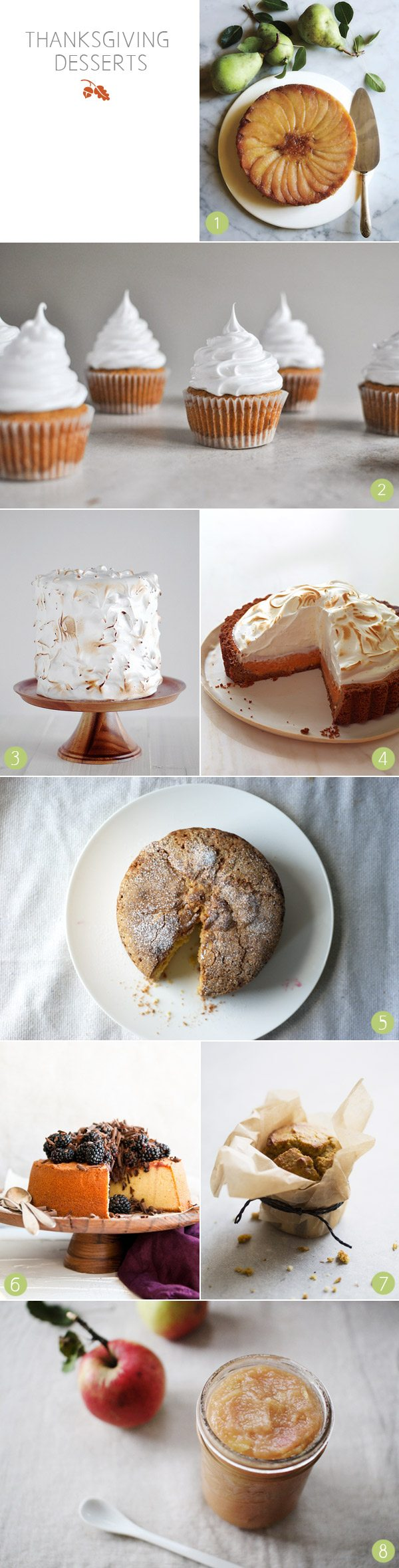 Thanksgiving desserts from The Sweetest Occasion