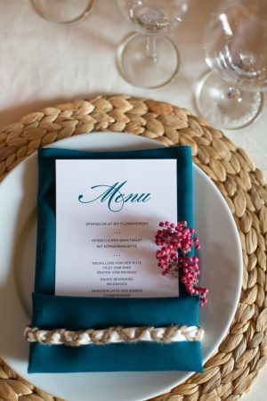 Jewel tone Thanksgiving table from The Sweetest Occasion
