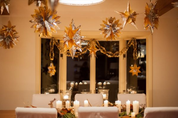 Golden holiday party from The Sweetest Occasion | Photo by Brea McDonald + styling by Beautiful Days