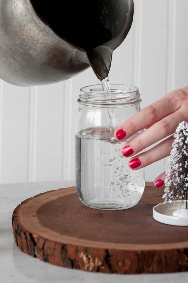 Diy snow globe jar 0015