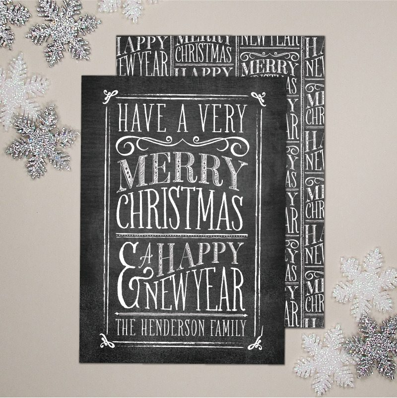 Chalkboard Christmas Cards The Sweetest Occasion The