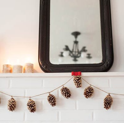 DIY Gold Leaf Pine Cone Garland thumbnail