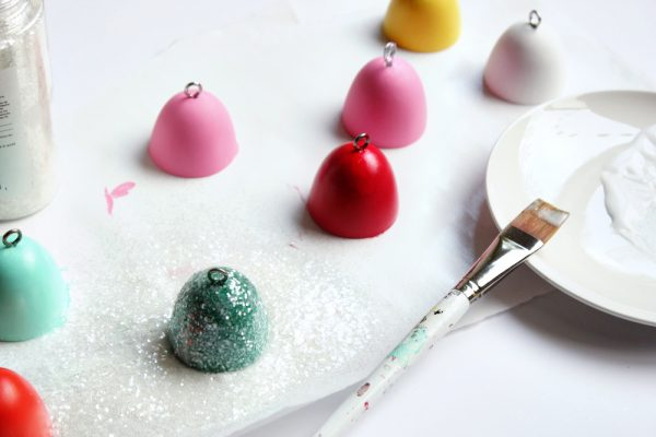 DIY glittery gumdrop ornaments by Hank + Hunt for The Sweetest Occasion