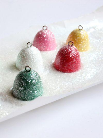 DIY Glittery Gumdrop Ornaments thumbnail