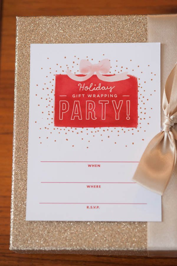 Holiday gift wrapping party from The Sweetest Occasion