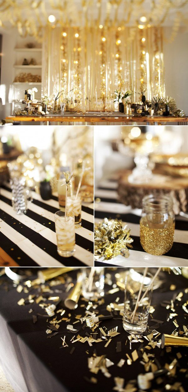 Gold New Years Eve Party Ideas on oscar event decor