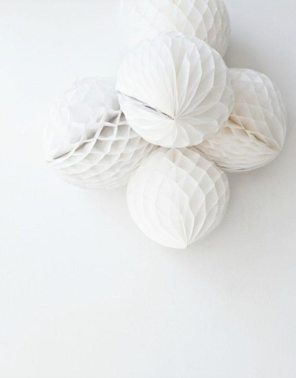 Pretty white honeycombs