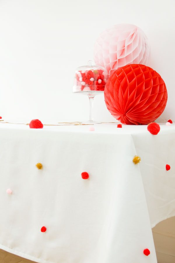 DIY Pom Pom Tablecloth-4