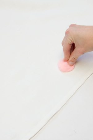 DIY Pom Pom Tablecloth Step 2