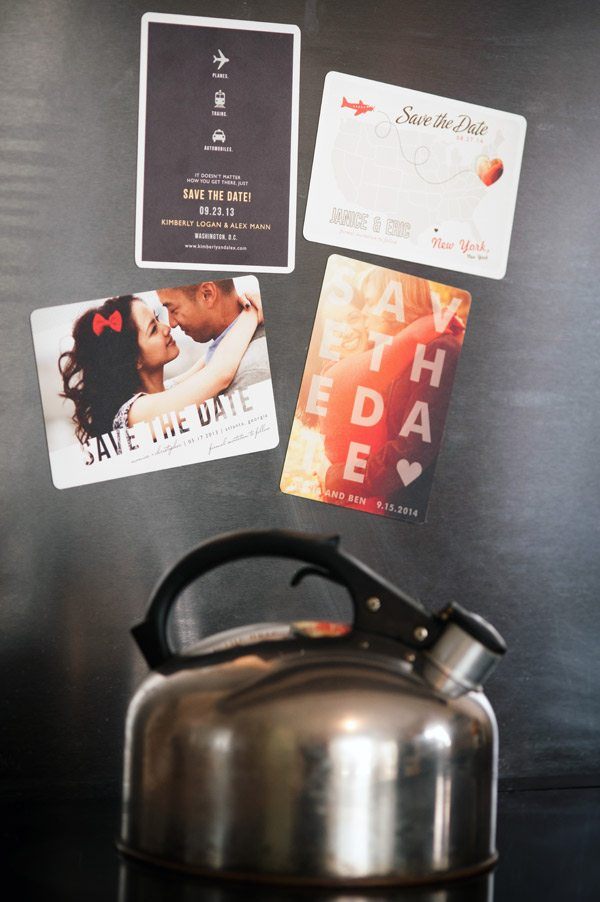 Awesome save the date magnets from Minted on The Sweetest Occasion