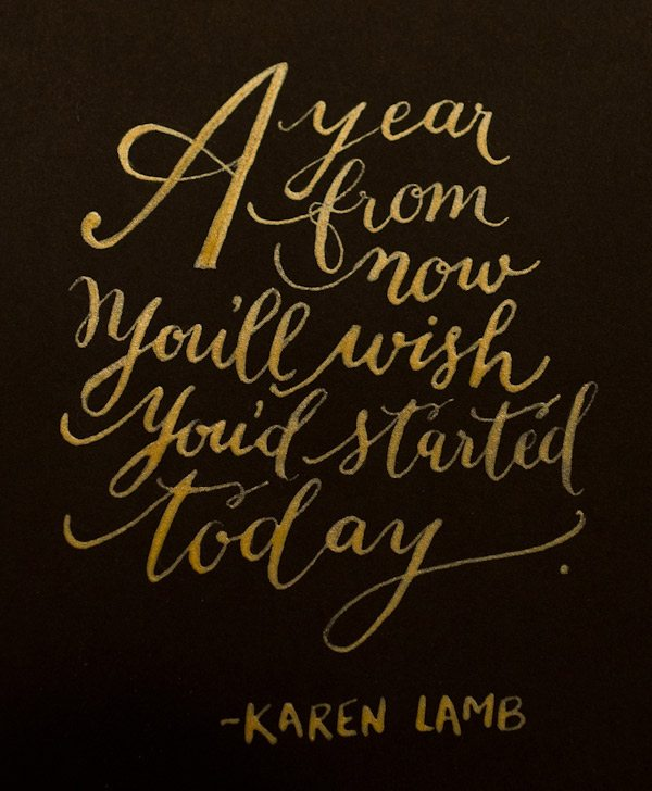 Lettering by Kelly Cummings via The Sweetest Occasion