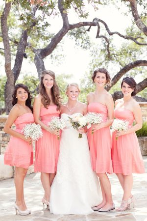 Coral bridesmaid dresses | The Sweetest Occasion