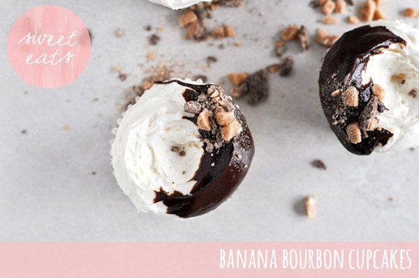 Banana bourbon cupcakes | How Sweet It Is via The Sweetest Occasion