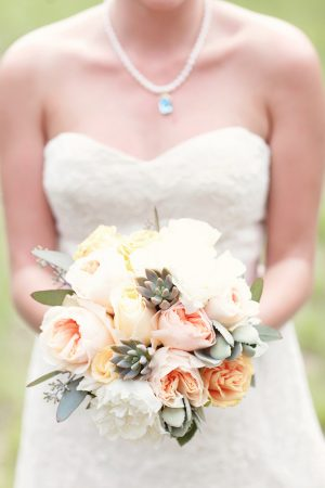 Peony + succulent bouquet | The Sweetest Occasion