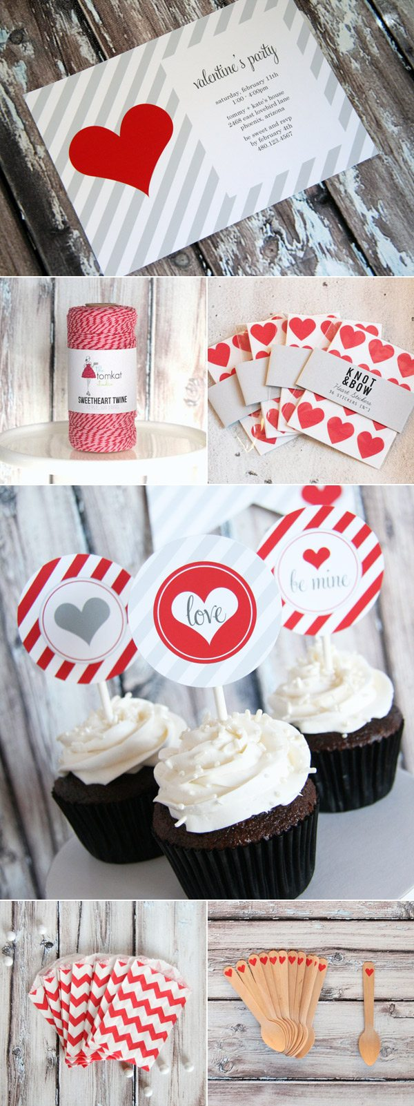 Valentines Day party goodies from The TomKat Studio on The Sweetest Occasion