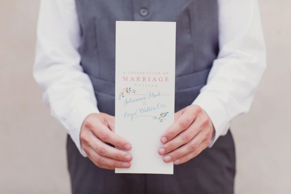 Pretty wedding programs | The Sweetest Occasion