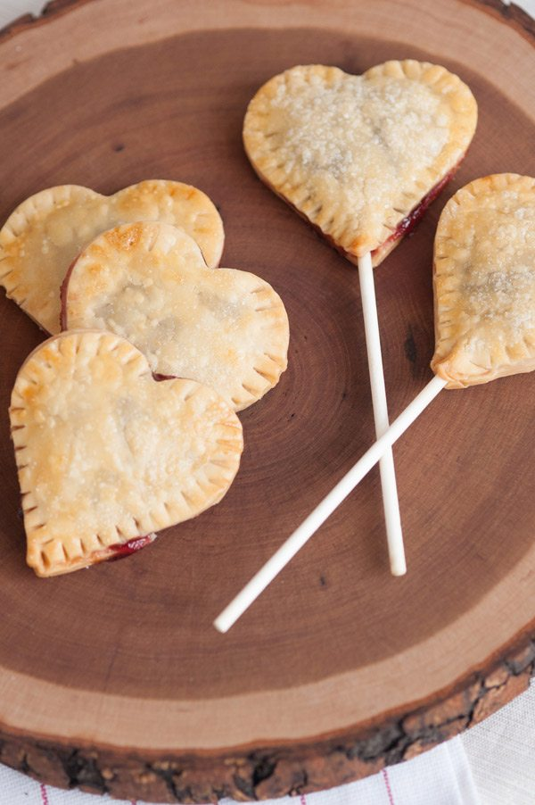 Cherry Jam Heart Pie Pops from The Sweetest Occasion