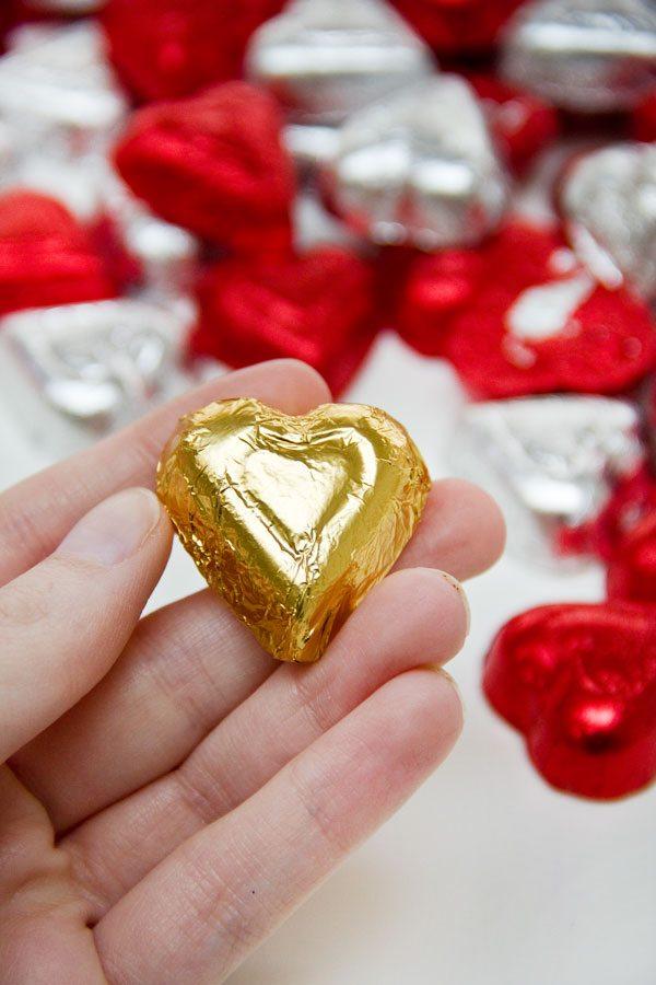 DIY Chocolate Heart Wall Step 3