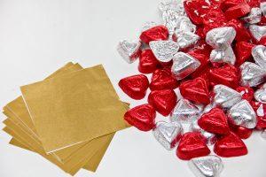 DIY Chocolate Heart Wall Supplies