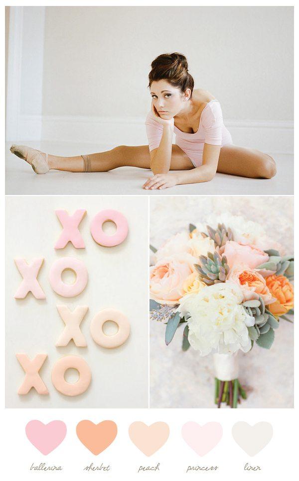Ballerina + peach   The Sweetest Occasion