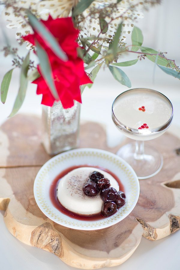 Cocktail recipe + styling by Gray Harper Event Maker | Panna cotta ...