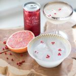 Sips + Sweets: Grapefruit Fizz + Pink Peppercorn Panna Cotta