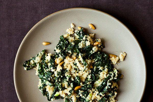Kale + quinoa pilaf